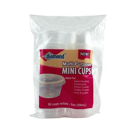 Mini Cups With Lids (Jarden Home Brands 41426-80001 Storage Cups With Lids, Mini, 2-oz.,)