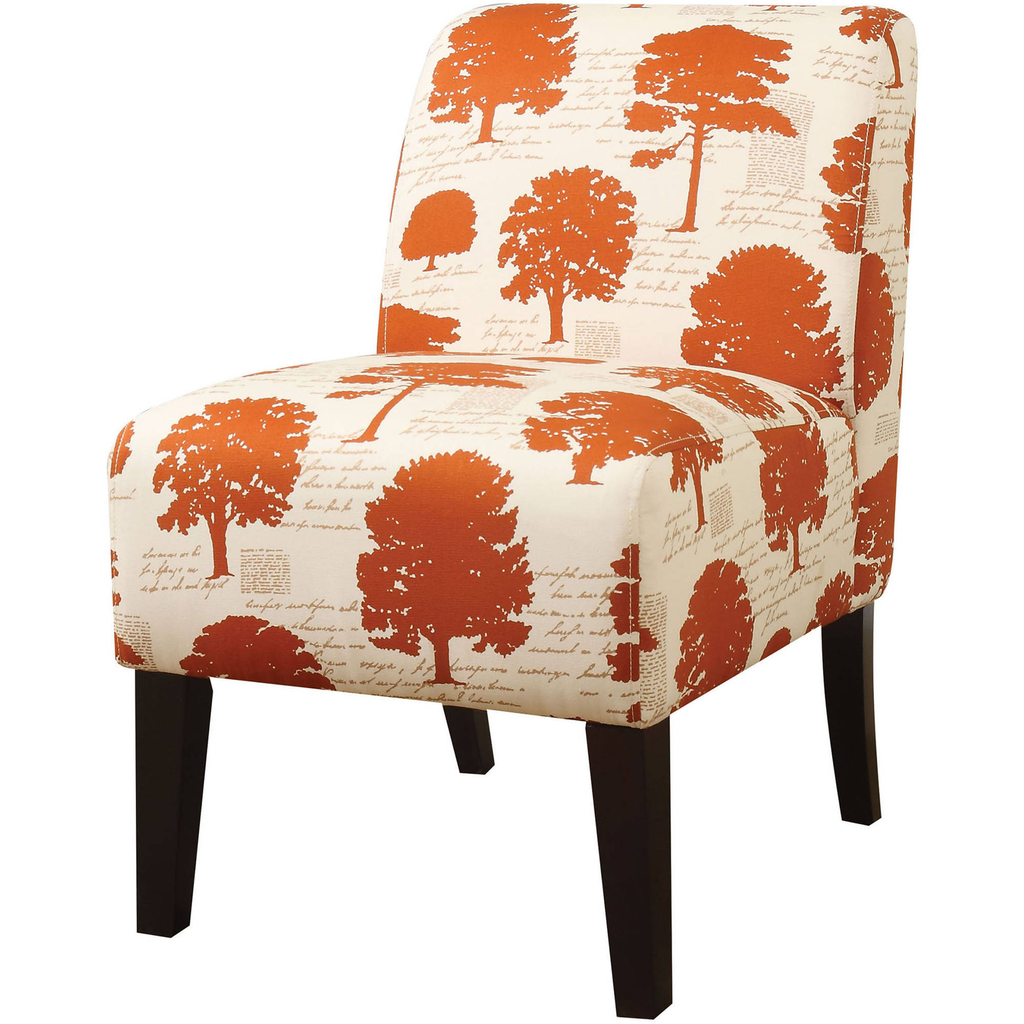 acme ollano fabric slipper chair multiple patterns