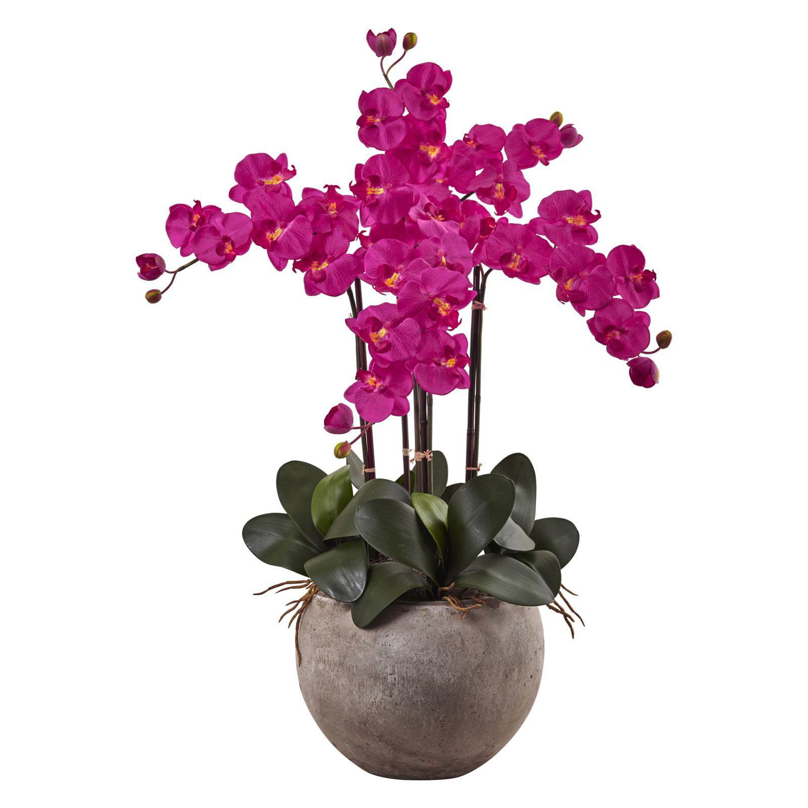 Nearly Natural Phalaenopsis Silk Orchid Flower Arrangement