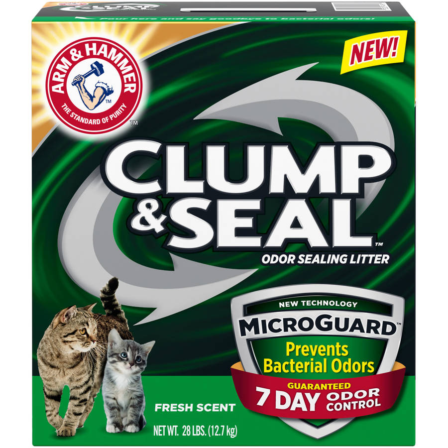 Arm & Hammer Clump & Seal Microguard Fresh Scent Odor Sealing Clumping Cat Litter, 28 lbs