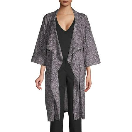 Loramendi Women's Plaid Trench Coat