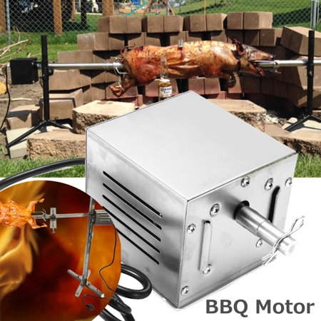 Moaere 60KG Stainless Steel BBQ Motor Camping Pig Grill Electric Rotisserie Roaster Machine