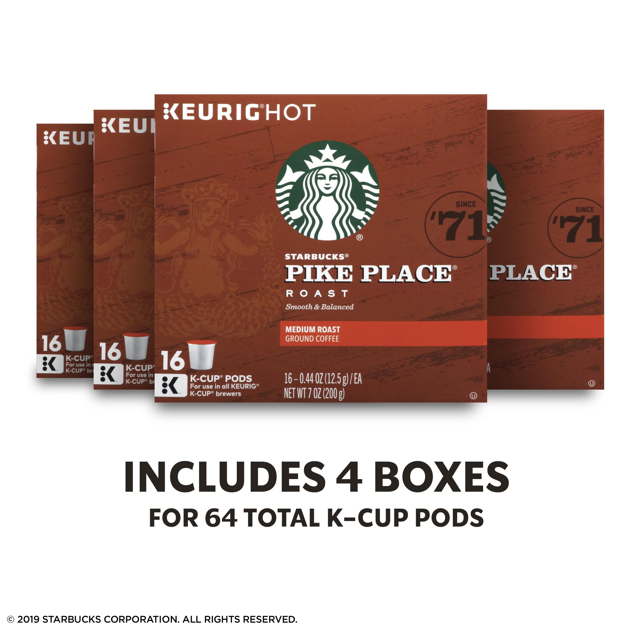 8a90cf09244 Starbucks Pike Place Roast Medium Roast Single Cup Coffee for Keurig  Brewers