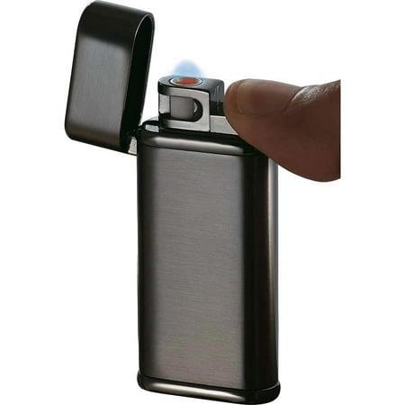 Visol Tendre Satin Gunmetal Finish Coil Flame Lighter