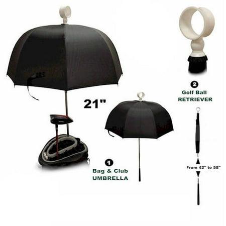 Player Supreme Golf Bag Umbrella Hood with Retriever