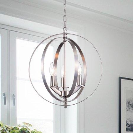 Setsus Chrome 3-Light Chandelier Globe