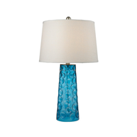 Table Lamps 1 Light With Blue Finish Glass Material Medium Base Bulb Type 27 inch 150 Watts