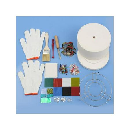 Moaere 15Pcs Professional Microwave Kiln Kit Jewelry Glass Fusing Making Tool