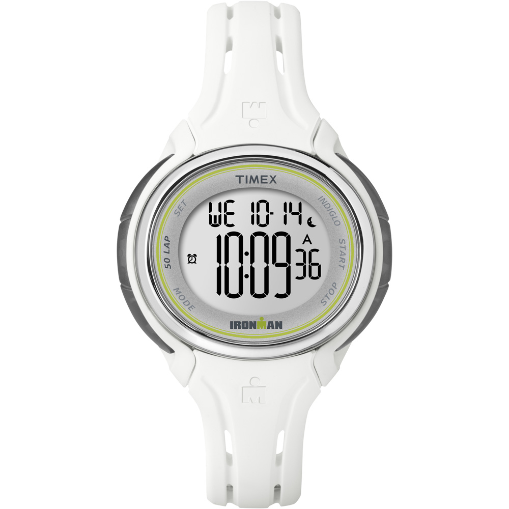 TIMEX IRONMAN SLEEK 50 LAP MID SIZE WATCH WHITE by Timex