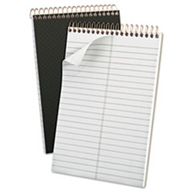 Tops Products 20808 Gold Fibre Spiral Steno 6 x 9 Book, Gregg, Grey Cover - 100 Sheets