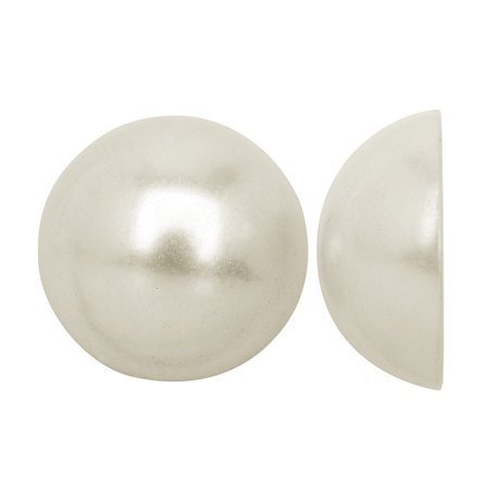 Acrylic Faux Pearl Flatback Cabochons 16mm - Pearlized White (12)