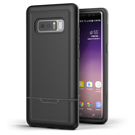 buy popular 47cce 58295 Galaxy Note 8 Tough Case, Encased [Rebel Series] Impact Armor Case for Note  8 [Military Grade Protection] (Black)