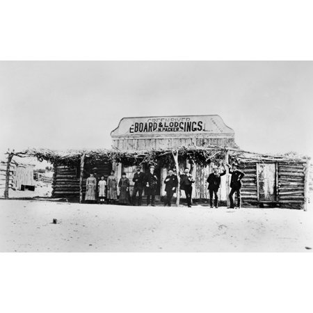 Stretched Canvas Art   Utah  Hotel  C1870   Ngreen River Board And Lodgings In Green River  Utah  Photographed By Charles Roscoe Savage  C1870    Medium 18 X 24 Inch Wall Art Decor Size