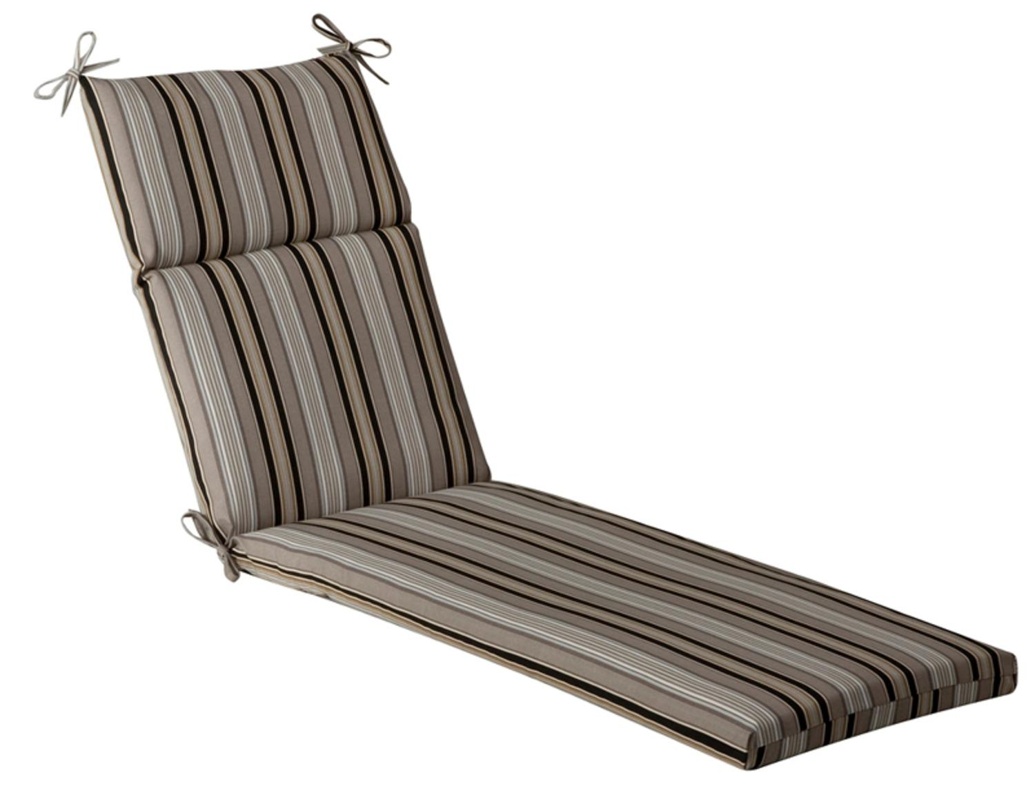 Outdoor Patio Furniture Chaise Lounge Cushion - Black u0026 Tan Striped Voyage  sc 1 st  Walmart : chaise patio cushions - Sectionals, Sofas & Couches