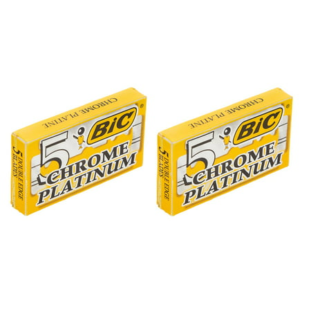BIC Chrome Platinum Double Edge Safety Razor Blades, 10 Count + Cat Line Makeup Tutorial