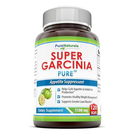 Pure Naturals Super Garcinia Capsules  1500 Mg  120 Count