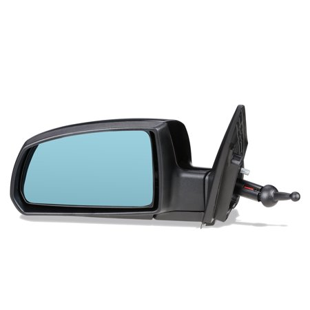 For 2006 to 2009 Kia Rio 5 OE Style Manual Driver / Left Side View Door Mirror Replacement Blue Glass 876101G030 07 08