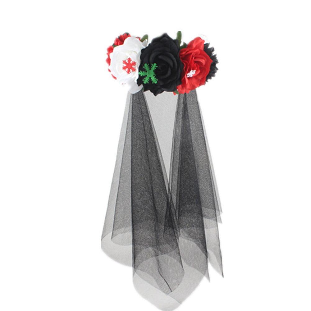 Details about  /Hairband Boho Festival Garland Hair Crown Vintage Rose Flower Headband Large