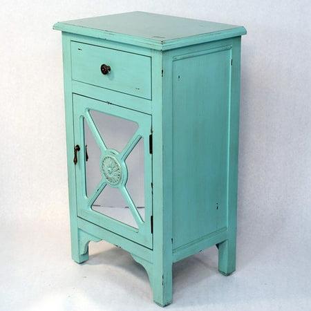 Heather Ann Creations Wooden Cabinet With Mirror Insert