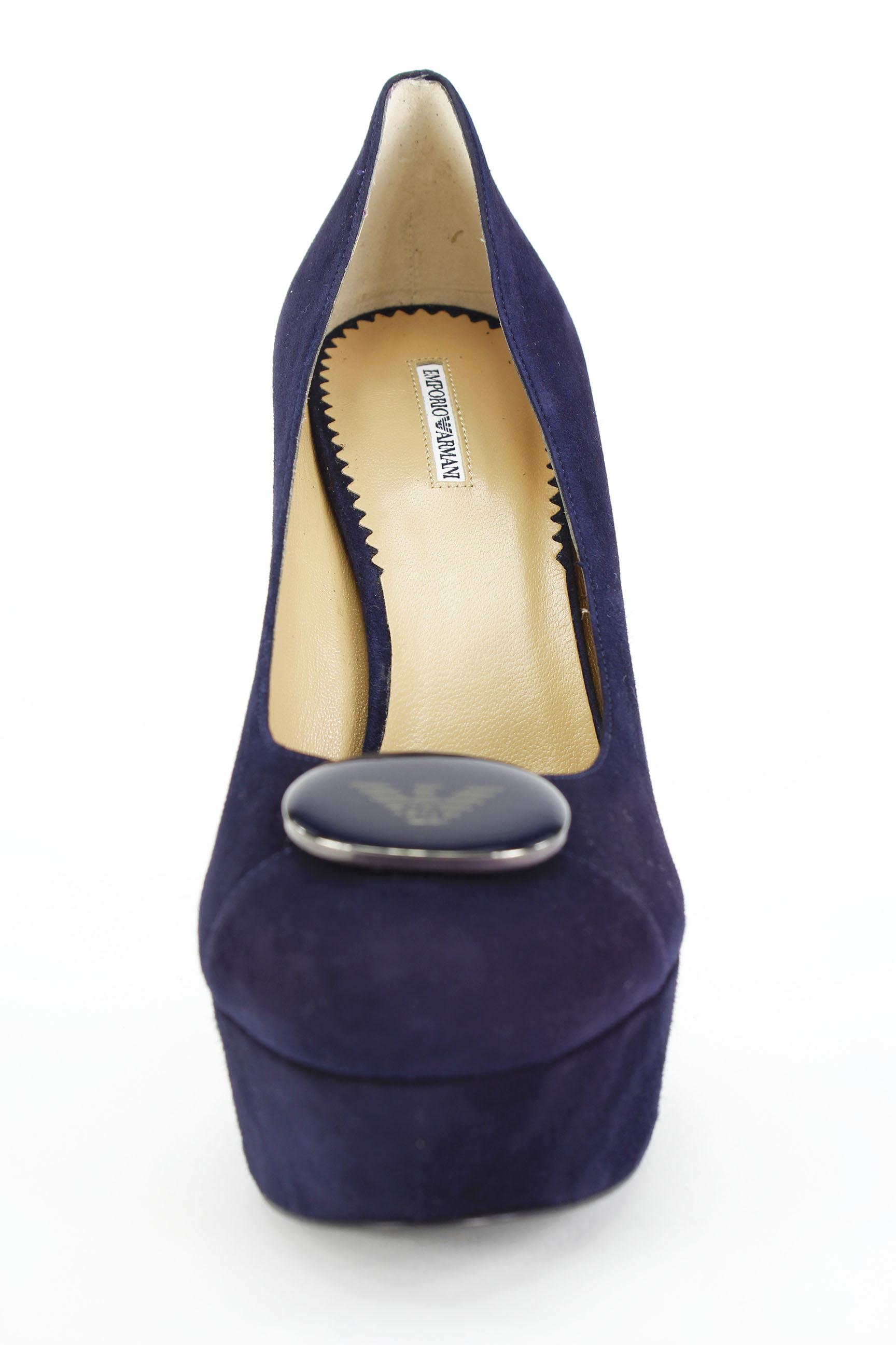 Emporio Armani Womens US Stiletto Heels Size 10 US Womens / 40 EU Blue Suede e6e24c