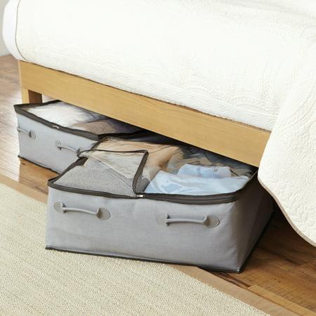 Better Homes And Gardens 2 Pocket Under Bed Bag Grey