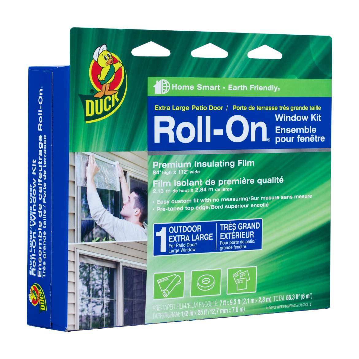 Duck Brand Roll-On Outdoor Window Kit for Extra Large Windows and Patio Doors