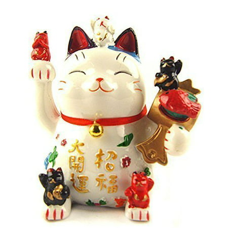 Lucky Cat Bank - Maneki Neko Lucky Cat Coin Bank for Wealth