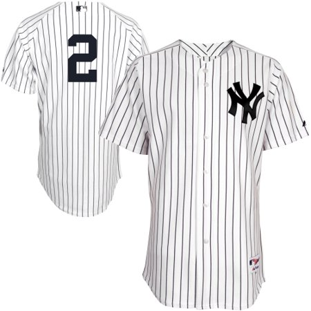 hot sale online e95e4 423df Derek Jeter New York Yankees Majestic Authentic Jersey - White