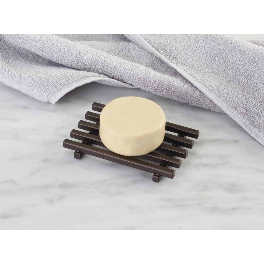 InterDesign Kyoto Bar Soap Holder for Bathroom Shower, Vanities, Kitchen Sink, Bronze
