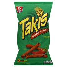 Barcel Takis Crunchy Fajitas Tortilla Chips, 9.9 oz