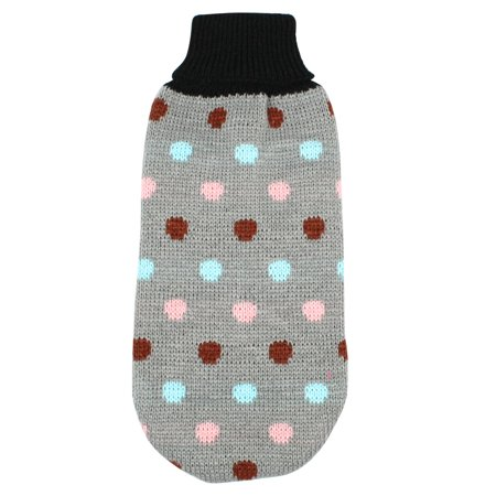 Unique Bargains Lovely Dots Printed Pet Puppy Dog Clothes Dog Apparel Sweater Size S Gray - Pets Dot Com