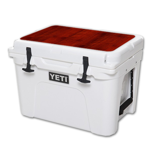 MightySkins Protective Vinyl Skin Decal for YETI Tundra 35 qt Cooler Lid wrap cover sticker skins Cherry Wood