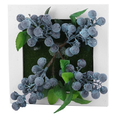Home Plastic Square Wall Hanging Table Artificial Blueberry Decor Plant