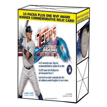 2018 Topps Baseball Update Series 1 Relic Value Blaster Box Factory Sealed (10 Packs Plus One MVP Award Relic Card) (2018 Topps Factory Set)
