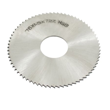 Unique Bargains 22mm Arbor Hole Dia 1.5mm Thick 72 Teeth HSS Slotting Saw