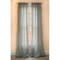 Manor Luxe Sierra Solid Sheer Rod pocket Single Curtain Panel