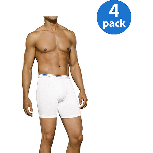 Fruit of the Loom Big Men's Classic White Boxer Briefs, 4-Pack
