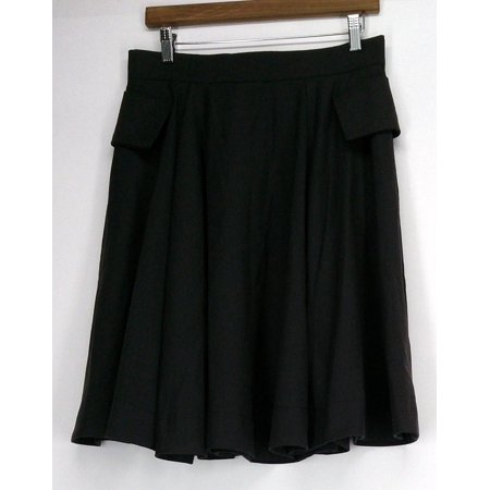 Nuovo Borgo Skirt 42 Back Zip A-Line w/ Flap Covered Seam Pockets Brown NEW A-line Back Zip Skirt