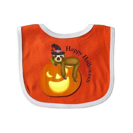 Happy Halloween Sedrick Sloth Cute Baby Bib Orange/White One Size](Happy Halloween Baby Hazel)