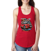 Shelby G.T. 500 Cobra Red Speedster Ford Motors Classic Cars and Trucks Ladies Racerback Tank Top