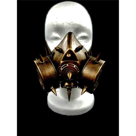 Kayso GSM001GD Spiked Steampunk Gas Mask, Gold