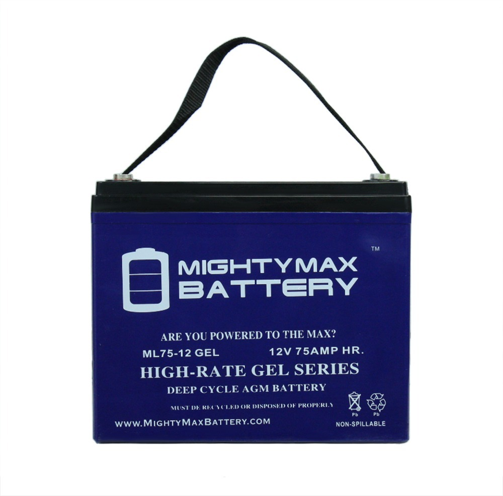 12V 75AH GEL Battery Replacement for Lakematic Wheelchair