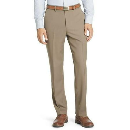Van Heusen No-Iron Flat-Front Traveler Dress (Best No Iron Dress Pants)