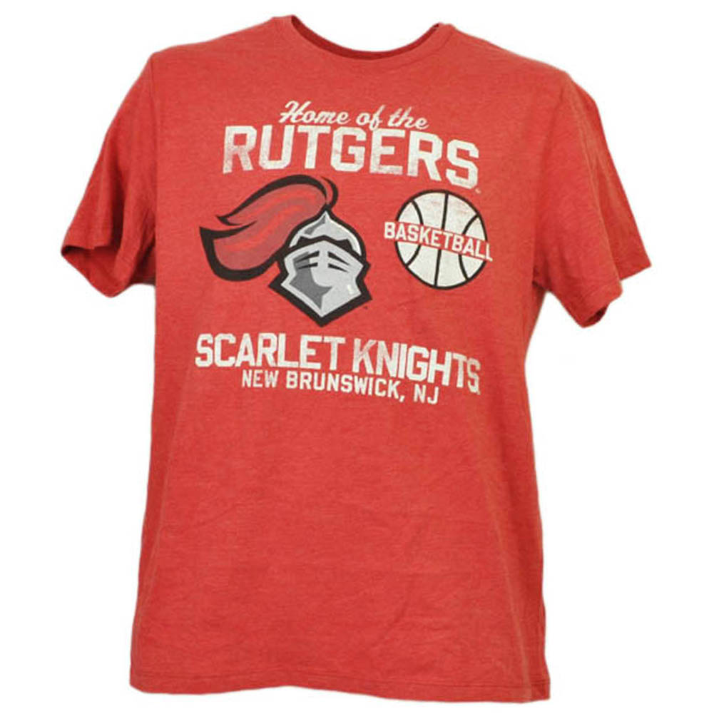 NCAA Rutgers Scarlet Knights Basketball New Brunswick NJ Red Tshirt Tee Mens XL