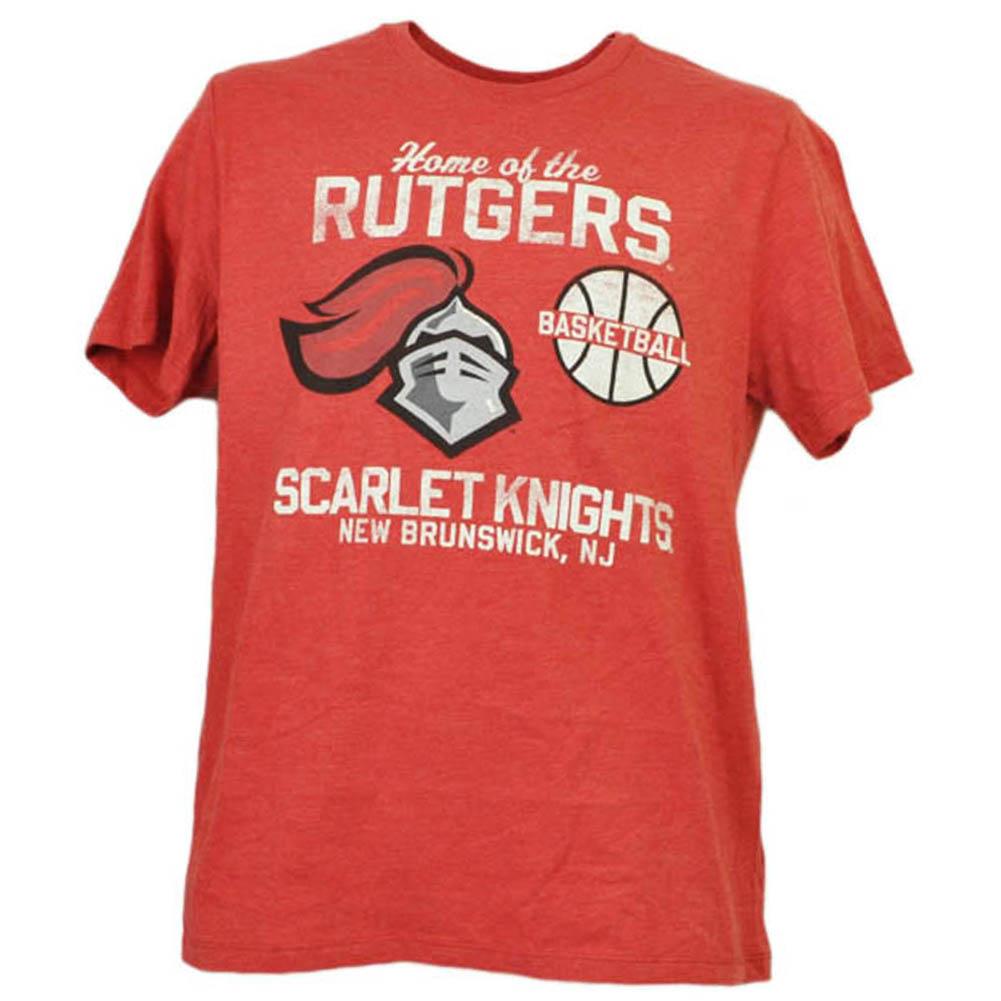 NCAA Rutgers Scarlet Knights Basketball New Brunswick NJ Red Tshirt Tee Mens XL
