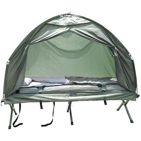 Outsunny Compact Portable Pop Up Tent Camping Cot W Air