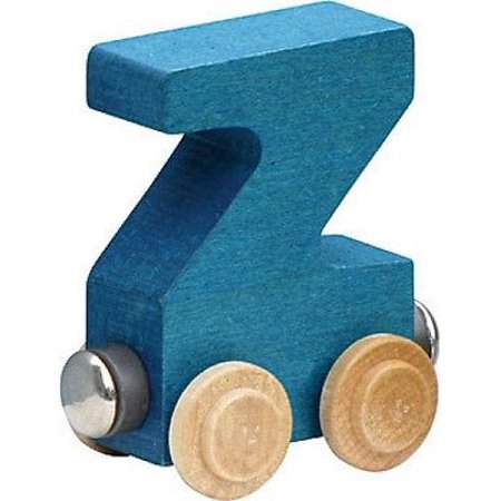 Letter Wood Name Train - Name Train - Bright Color Childrens Wooden Trains Letter Z