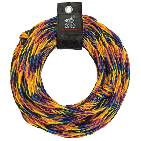 - AIRHEAD Multicolor Tube Tow Rope, 60 feet, 1-2 Rider Tubes