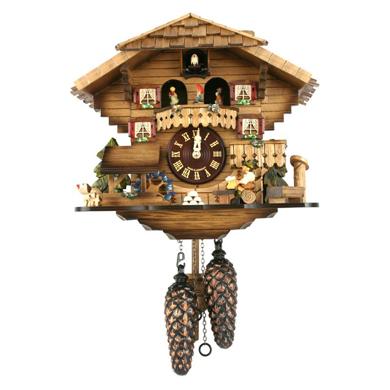 Black Forest Twirling Dancers Cuckoo Clock by Alexander Taron