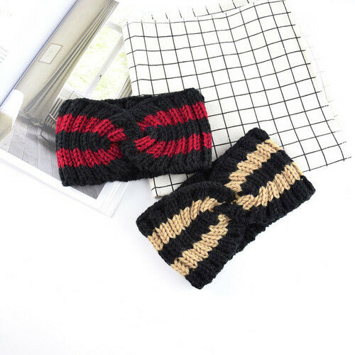Women Winter Turban Knitted Winter Bow Knot Accessories Headband Hair band Wrap